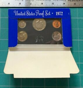 1972 US COIN PROOF SET 5 COIN SET WITH KENNEDY HALF