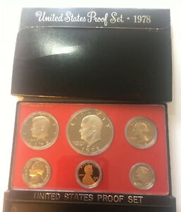 1978 S UNITED STATES PROOF 6 COIN SET IN MINT BOX .
