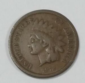 1872 INDIAN HEAD/OAK WREATH REV CENT GOOD 1 CENT