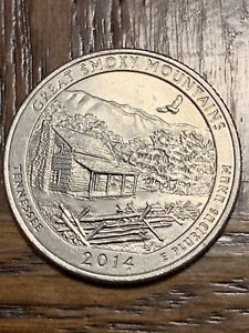 2014 GREAT SMOKEY MOUNTAINS QUARTER