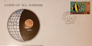 COINS OF ALL NATIONS   KIRIBATI   FRANKLIN MINT FIRST DAY COVER