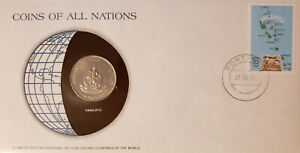 COINS OF ALL NATIONS   VANUATU   FRANKLIN MINT FIRST DAY COVER