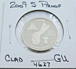 2009 S GEM PROOF DEEP CAMEO GUAM QUARTER   CLAD  4627