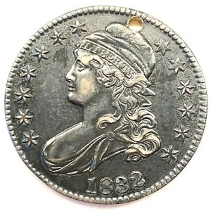 1832 50C CAPPED BUST HALF DOLLAR: HOLED