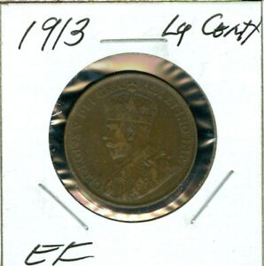 1913 CANADA LARGE CENT  EF