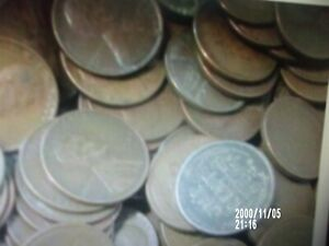 50  WHEAT PENNIES FOR 1 PRICE FACE VALUE .50 CENTS ALL READABLE DATES