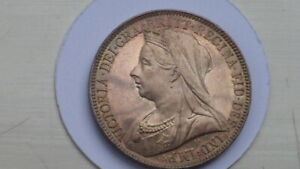 1901 FLORIN/TWO SHILLINGS. BU. TRULY MIRROR LIKE. VICTORIA OH.1893 1901.BRITISH.