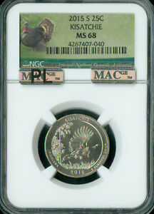 Click now to see the BUY IT NOW Price! 2015 S KISATCHIE QUARTER NGC MAC MS68 PL PQ  FINEST GRADE  MAC SPOTLESS .