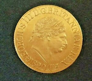 GB KING GEORGE 3RD 1820 GOLD SOVEREIGN. SUPERB ABOUT UNCIRCULATED & EBAY FINEST