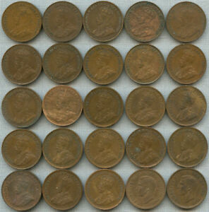 Click now to see the BUY IT NOW Price! LOT OF 25 CANADA SMALL CENTS 1921 1926 1927 1928 1933 1937 & 1939