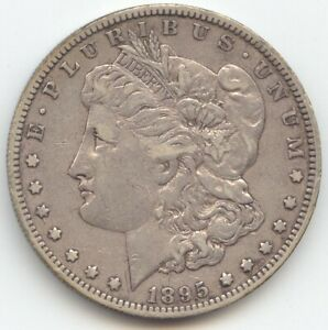 1895 O MORGAN SILVER DOLLAR ORIGINAL VF XF KEY DATE