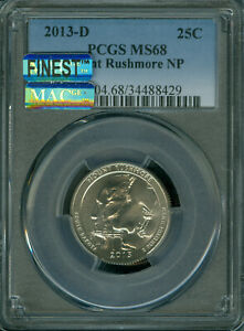 Click now to see the BUY IT NOW Price! 2013 D MOUNT RUSHMORE QUARTER PCGS MS 68 PQ MAC FINEST GRADED MAC SPOTLESS .