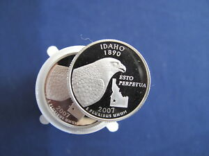 Click now to see the BUY IT NOW Price! 2007 S IDAHO STATE SILVER QUARTER PROOF ROLL OF 40