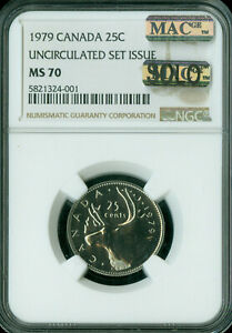 Click now to see the BUY IT NOW Price! 1979 CANADA  25 CENTS NGC MS 70 MAC SOLO FINEST GRADED  MAC SPOTLESS .