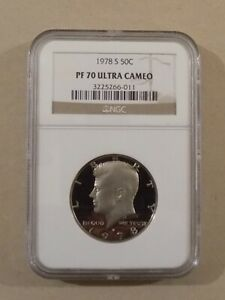 Click now to see the BUY IT NOW Price! 1978 S 50C KENNEDY HALF DOLLAR NGC PF70 ULTRA CAMEO