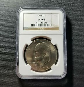 1978 EISENHOWER DOLLAR NGC MS 66   GRADED NGC MS66 $1 IKE