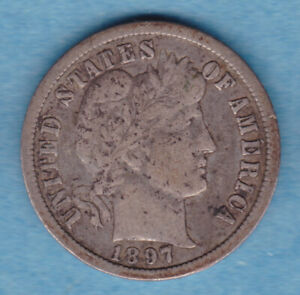 1897O BARBER DIME WITH LIBERTY