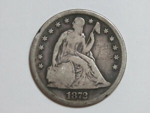 1872 SEATED LIBERTY SILVER DOLLAR