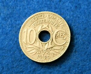 1929 FRANCE 10 CENTIMES   NICE OLD COIN   SEE PICS