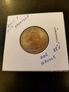 2015 P SARATOGA NEW YORK QUARTER 25 CENT ERROR DOUBLED DDR HANDLE REVERSE