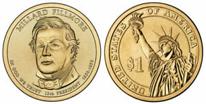 2010 P MILLARD FILLMORE PRESIDENTIAL ONE DOLLAR COIN FROM U.S. MINT MONEY COINS