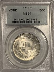 Click now to see the BUY IT NOW Price! GOLD TONED PCGS MS67 1936 YORK SILVER COMMEMORATIVE HALF DOLLAR COIN