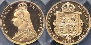Click now to see the BUY IT NOW Price! AUSTRALIA 1887 SYDNEY PROOF JUBILEE HEAD HALF SOVEREIGN   PCGS PR63DCAM