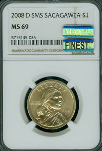 Click now to see the BUY IT NOW Price! 2008 D SACAGAWEA LABEL DOLLAR NGC MS69 SMS MAC FINEST MAC SPOTLESS .
