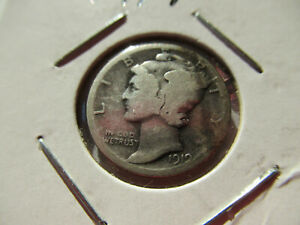 1919  MERCURY DIME COIN WITH