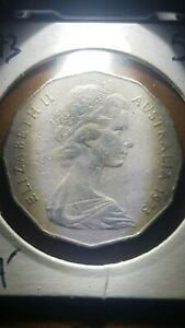 1973 'COAT OF ARMS' AUSTRALIAN 50 CENT LOW MINTAGE COINS