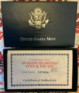 US MINT COIN & DIE SET 2001 KENTUCKY QUARTER BU WITH UNIQUE SERIALIZED COA  OGP