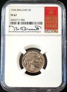 Click now to see the BUY IT NOW Price! 1936 PROOF BUFFALO NICKEL BRILLIANT VARIETY NGC PF 67  RED BOOK BRESSETT LABEL