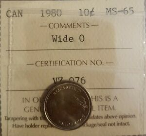 Click now to see the BUY IT NOW Price! 1980 CANADA 10 CENTS WIDE O ICCS MS65