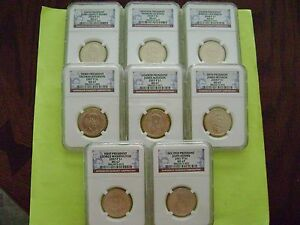 Click now to see the BUY IT NOW Price! 2007 2008 P PRESIDENTIAL NGC MS 67 8 COIN BUSINESS STRIKE DOLLAR SET