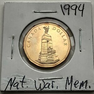 1994 CANADA DOLLAR  NAT.WAR.MEM.    HIGH GRADE   COMBINED SHIPPING
