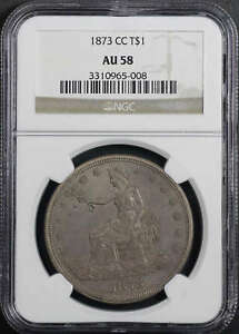 Click now to see the BUY IT NOW Price! 1873 CC TRADE DOLLAR NGC AU 58