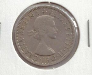 GREAT BRITAIN 2 SHILLINGS COIN 1956 BEAUTIFUL CONDITION