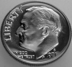 1971 S ROOSEVELT DIME CLAD PROOF NICE NO PROBLEM COIN