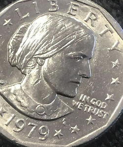 1979 D SUSAN B ANTHONY DOLLAR W/EAGLE LANDING ON THE MOON ON BACK  SEE PICTURES