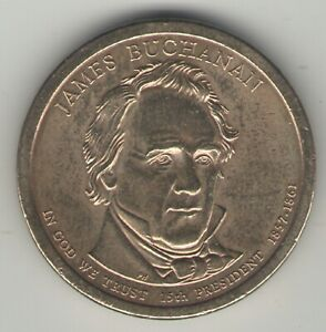 JAMES BUCHANAN 2010 P PRESIDENTIAL DOLLAR COIN