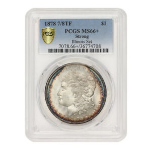 Click now to see the BUY IT NOW Price! TIED FOR FINEST 1878 7/8TF $1 SILVER MORGAN PCGS MS66  STRONG ILLINOIS SET COIN