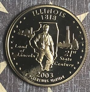 2003 S ILLINOIS STATE QUARTER . COLLECTOR COIN FOR COLLECTION.