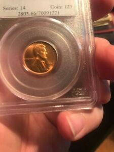 1952 S LINCOLN CENT CERTIFIED PCGS MS 66  RD