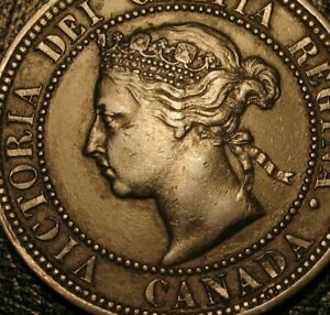OLD CANADIAN COINS 1888 LARGE CENT CANADA HIGHGRADE BEAUTY