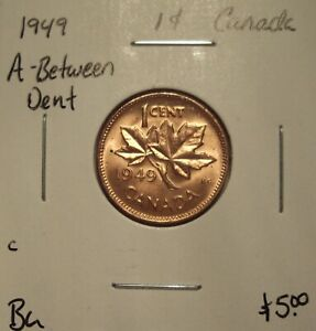 C CANADA GEORGE VI 1949 A BETWEEN SMALL CENT   BU