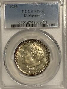 Click now to see the BUY IT NOW Price! 1936 50C BRIDGEPORT COMMEMORATIVE HALF DOLLAR  PCGS MS67.. WOW