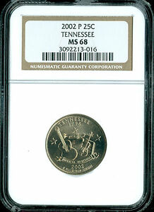 2002 P TENNESSEE QUARTER NGC MS 68 2ND FINEST GRADE  .