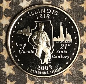 2003 S ILLINOIS STATE QUARTER. COLLECTOR COIN FOR YOUR COLLECTION OR SET.