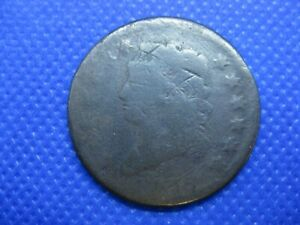 1812 CLASSIC HEAD LARGE CENT ONE CENT COIN