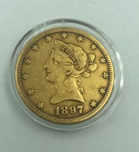 1897 S CORONET HEAD GOLD $10 EAGLE  NEW LIBERTY HEAD WITH MOTTO    COIN